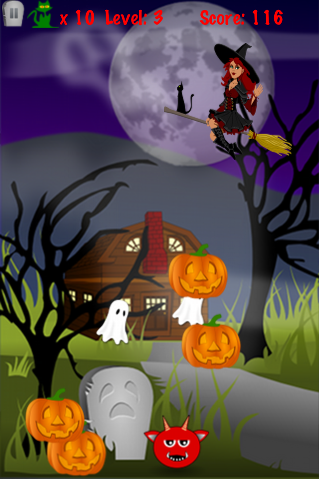 Screenshot Finger vs Halloween Monster: Fun game for kids and grownups